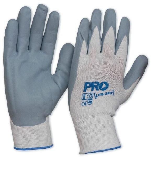 ProSense LiteGrip nitrile foam backed gloves