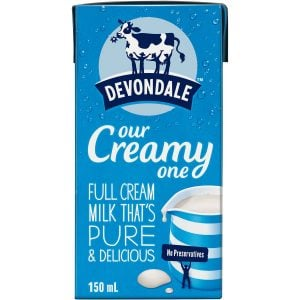 Devondale Full Cream Milk 150ml Tetra Pack