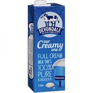 Devondale Full Cream Milk 1 litre