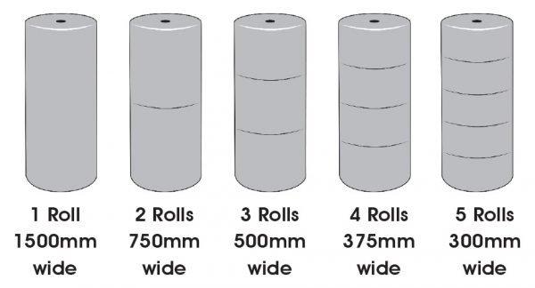 Bubble wrap roll size chart
