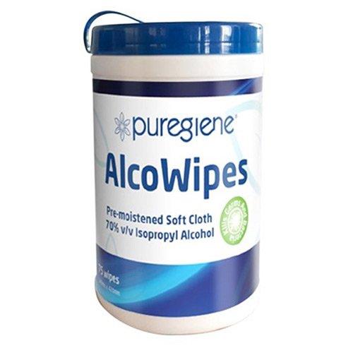 019/758956 Puregiene AlcoWipes isopropyl 75 tub